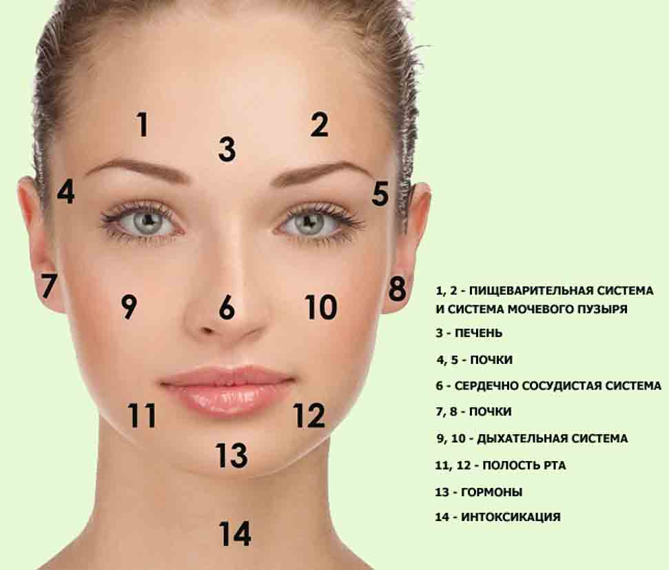 Диагностика по коже лица
