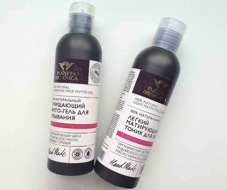 Умывание кожи лица Planeta Organica