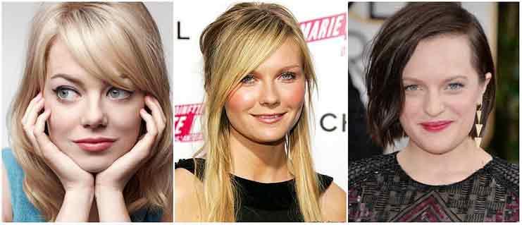 Причёска по форме лица круглого типа