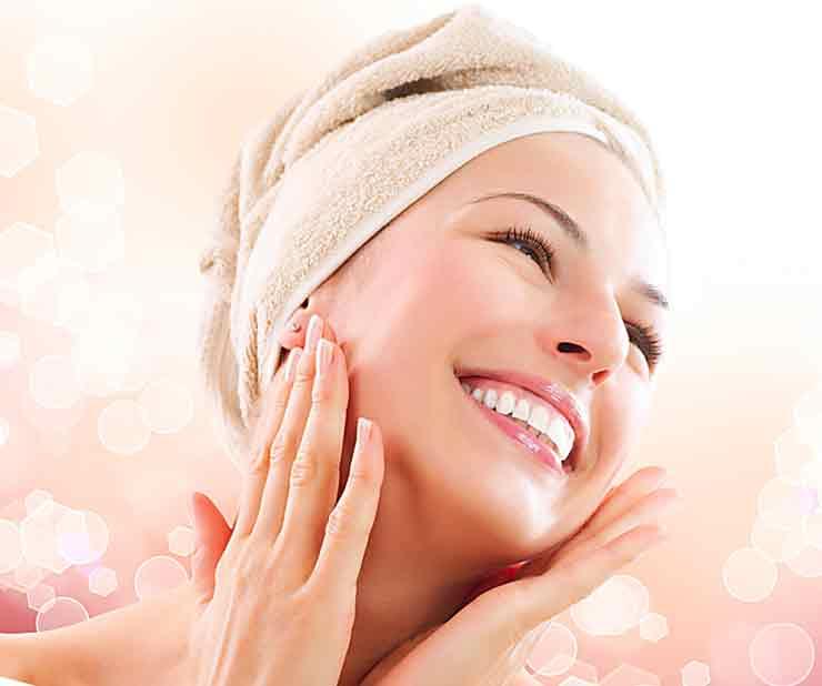 Умывание кожи лица