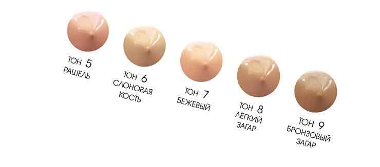 Текстура тонального крема для кожи