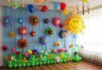сделать цветок из шариков