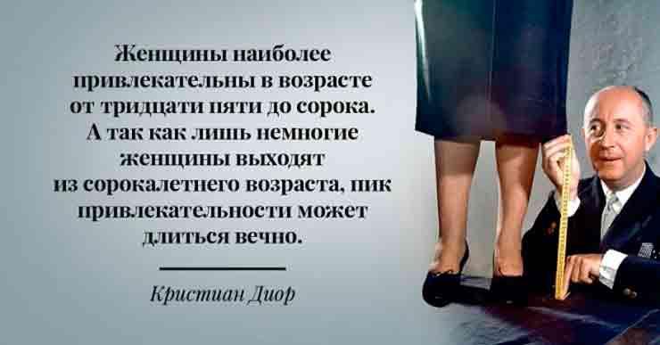 Модные цитаты Кристиана Диора
