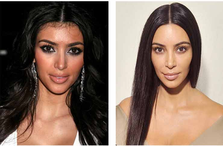 Кожа лица Ким Кардашьян