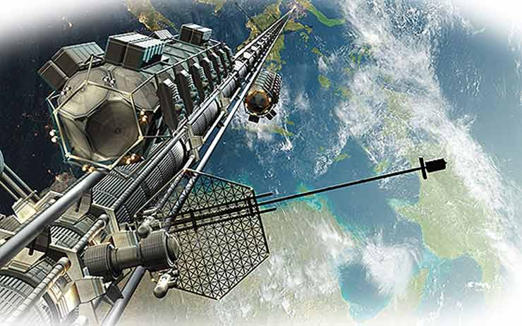космический лифт к 2050 году
