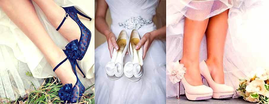 свадебные туфли в образе невесты