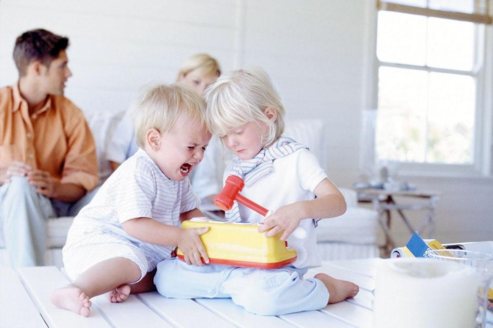 Малыши дерутся из за игрушек