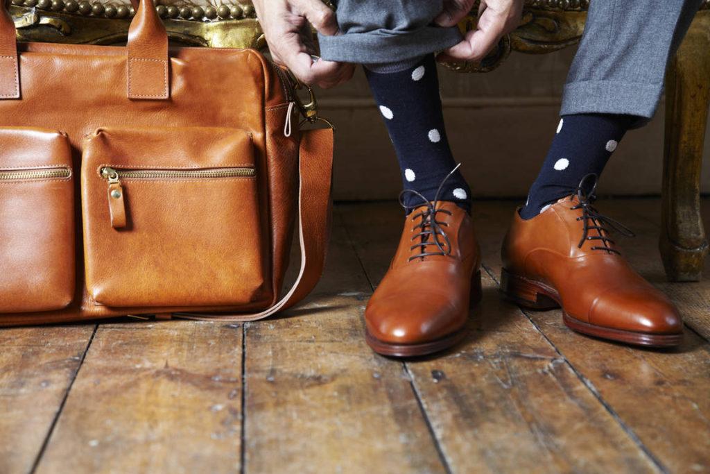 Мужские ботинки рыжего цвета
