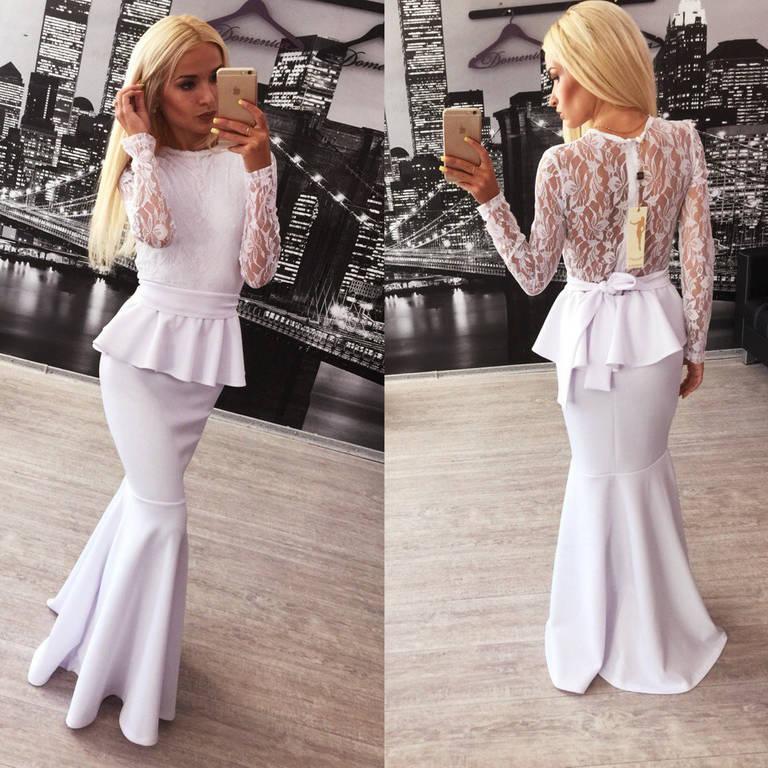 Модное платье с баской