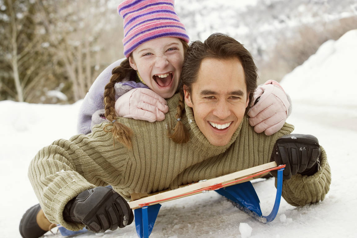 Ребёнок и родители вместе
