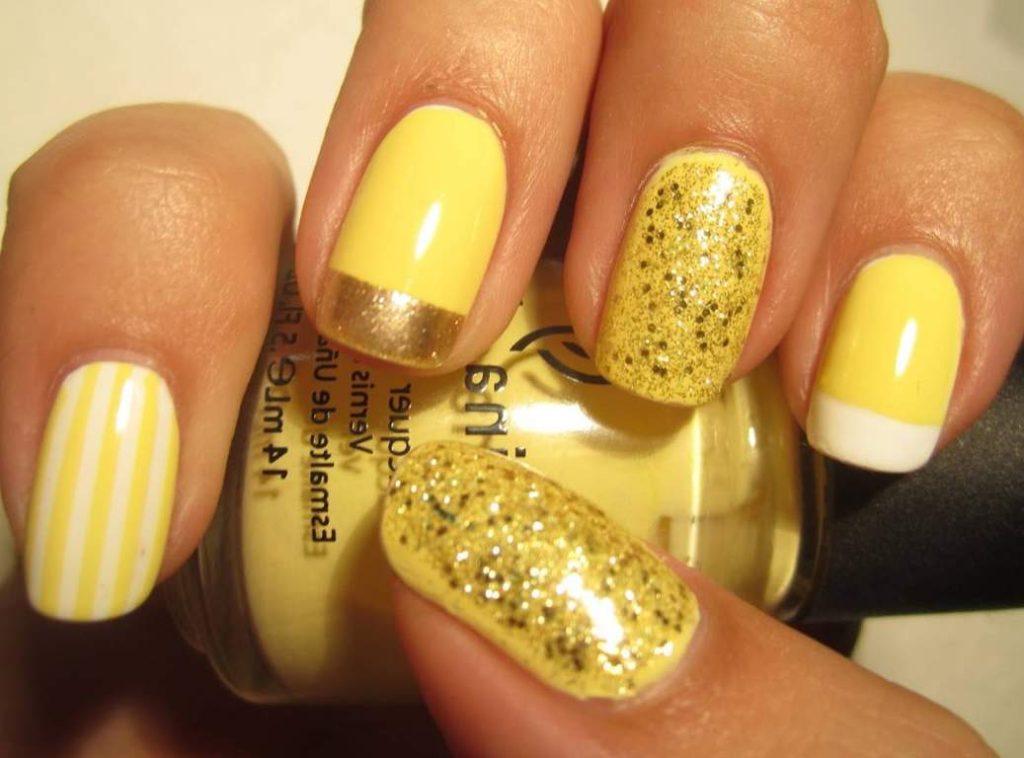 Желтый цвет маникюра