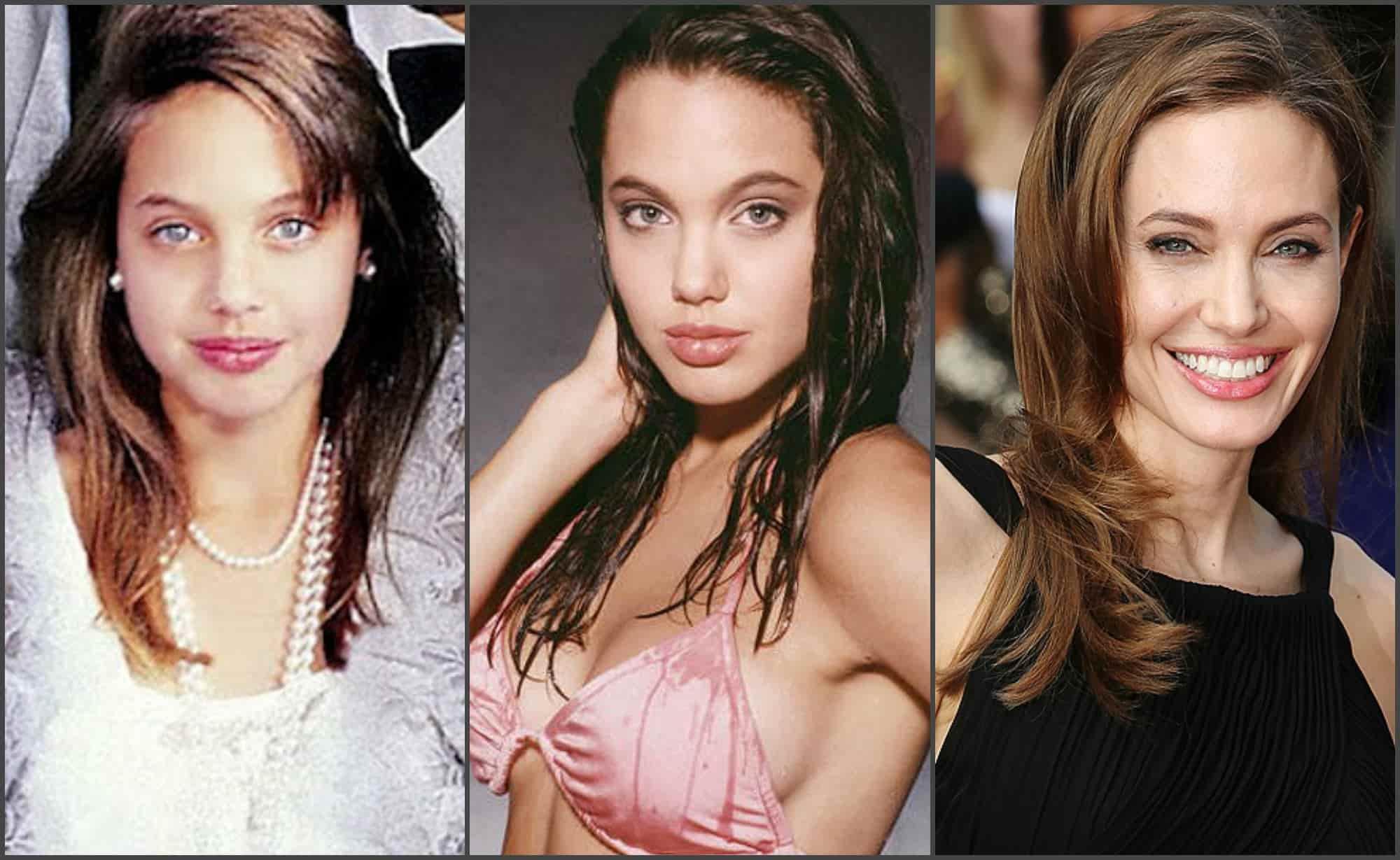 Анджелина Джоли в юности и сейчас