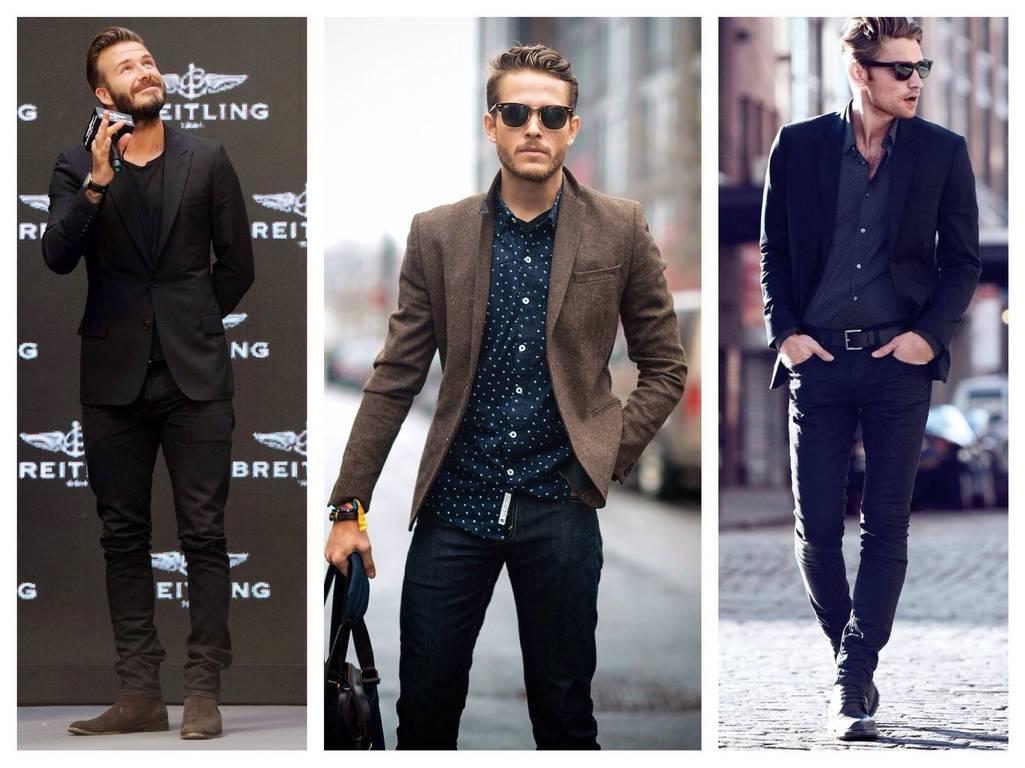 Узкие брюки для мужчин