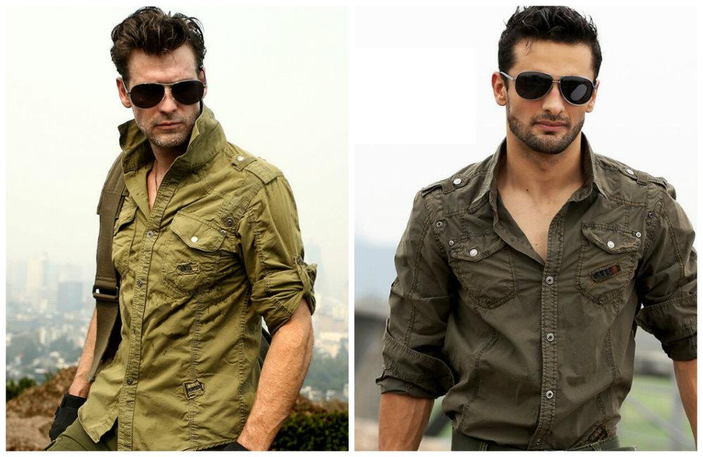 стиль милитари в элементах мужской одежды