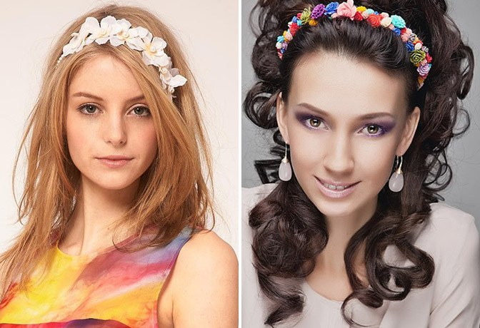 цветы для волос причёски