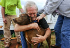 Собака спасла мужчину