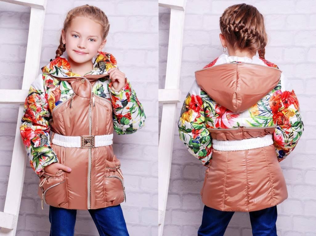 Куртки для девочек с принтом