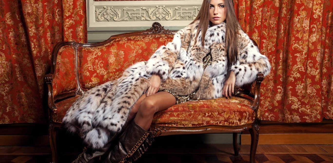 Шуба из леопарда тренд