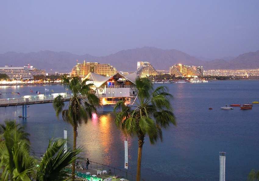 Город туристов у мертвого моря Эйлат