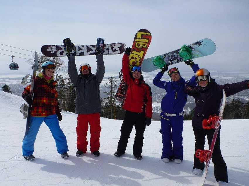 Сноубордисты новички