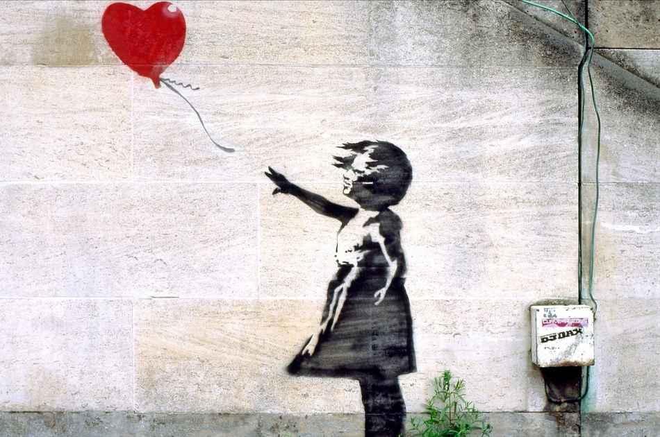 Уничтожение картины Девочка с шаром