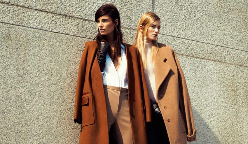 Пальто бежевого цвета на осень